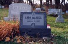 Celeb Grave Livestream Feeds - An Andy Warhol Birthday Calls for a 24/7 View of His Resting Place