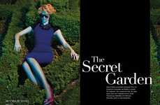 Eerily Elegant Editorials - The Apropos Journal 'The Secret Garden' Photoshoot Stars Katrin Thormann
