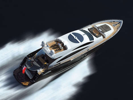 Luxe Predator-Inspired Yachts - The Sunseeker Predator 92 Sport is a $5 Million Motor-Yacht