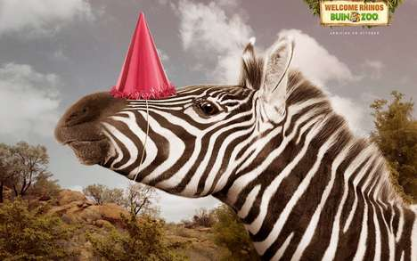 Rejoicing Animal Ads - This Promotion for Buin Zoo Features Celebrating Animals