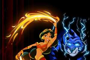 The Iconic Disney Princesses are Depicted as Airbender Characters