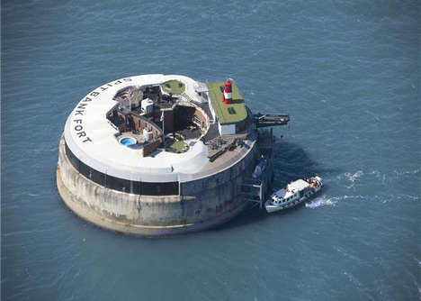 Floating Luxury Hotels - The Spitbank Fort in England is a Secluded Private Sea Resort
