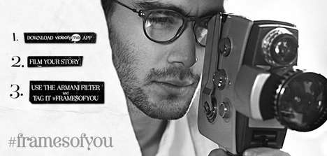 Personal Video Fashion Campaigns - Giorgio Armani Uses Social Media to Showcase Consumers