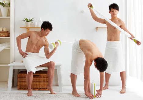 Washroom Workout Tools - The 'BatheXercise' Exercise Equipment Lets You Buff Up While You Shower