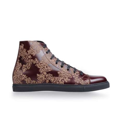 Printed Leather High-Top
