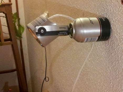 Spray Can Lighting - This DIY Lamp is Recycled From a Used Spray Can