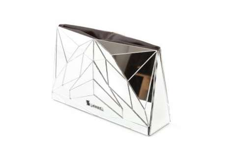 Chic Shattered Clutches - Baguera Uses 3D Pieces to Form a Geometric Print