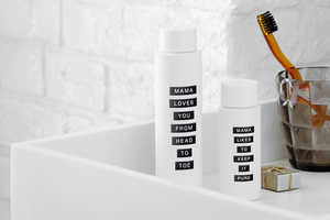 The Skincare Bottles for Mama Skin Provide Motherly Sayings
