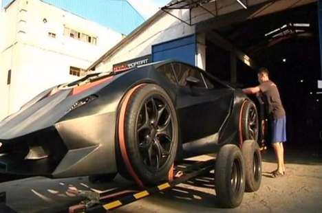 Scrap Metal Sports Cars - A Team of Designers Created a Make-Your-Own Lamborghini from Junkyard Find
