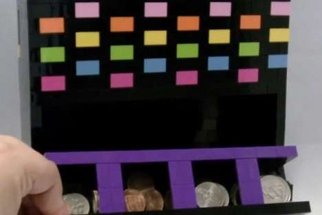 DIY Retro Coin Counters - This Old School LEGO-Made Coin Sorter Can be Built at Home