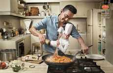 Canned Chef Campaigns - Del Monte Sauces Practically Cook Themselves in These Ads