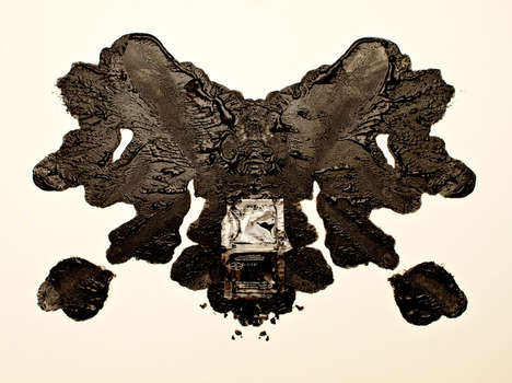 Foodie Ink Blot Artwork - This Food Test Art is a Hungry Psychiatrists Dream