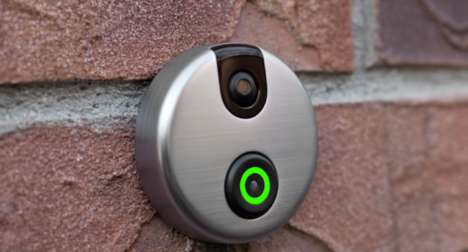 Futuristic WiFi Webcam Doorbells - The Doorbell Camera Lets You Answer the Door from Anywhere