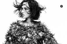 Fiercely Feathered Editorials - The Marie Claire Australia September Issue is the Leader of Flocks