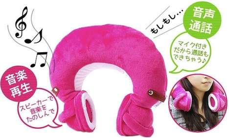 Music-Playing Neck Pillows - These Cushion Headphones are Perfect for Traveling Long Distances