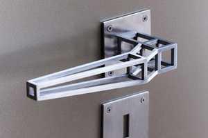 The Outline Door Handle Design is Structurally Skeletal and Sleek