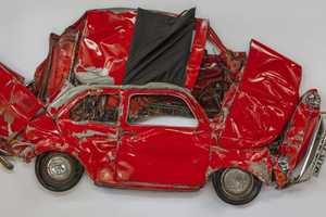 Ron Arad Uses Flattened Fiat 500 Cars as Though They are Pressed Flowers