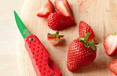 Fruity Strawberry Slicers - Kuhn Rikon's Fruit Knife Looks Just Like a Strawberry