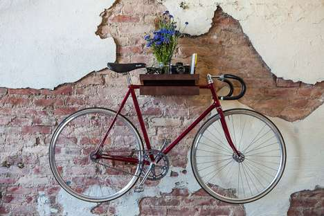 mounted bike shelf