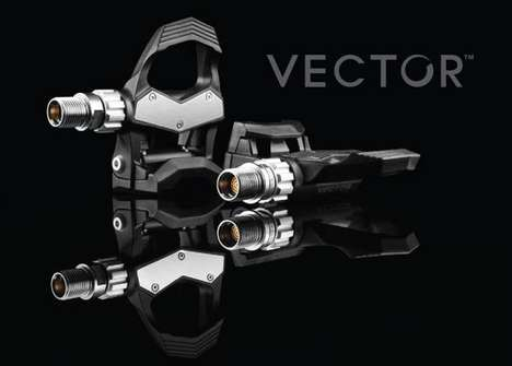Intelligent Cyclist Accessories - The Garmin Vector Pedal Power Meter Tracks the Trek Seamlessly