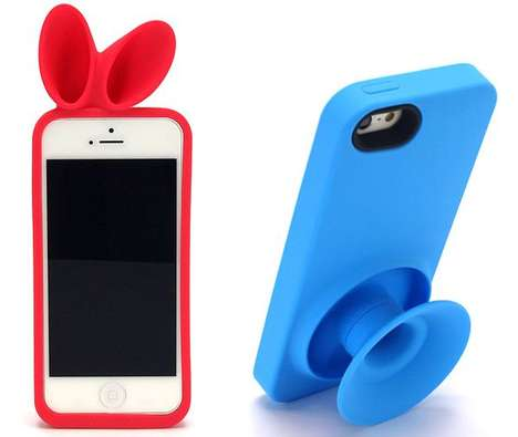 Amplifying Animalistic Sheaths - These Rabbit and Donut Horn Cases for iPhone 5 Do Triple Duty