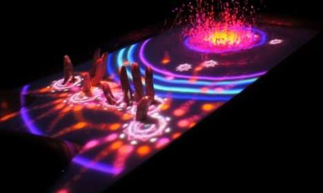 Touchscreen Bathtub Projections - Transform Tub Water into a Touchscreen Display Tablet with AquaTop