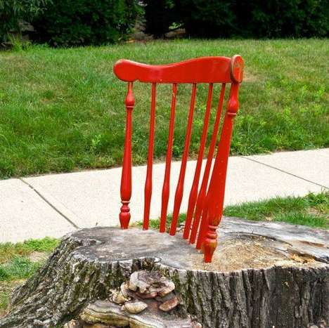Tree Stump Seating - The Stump Chair by Coby Unger is Quirky and Creative