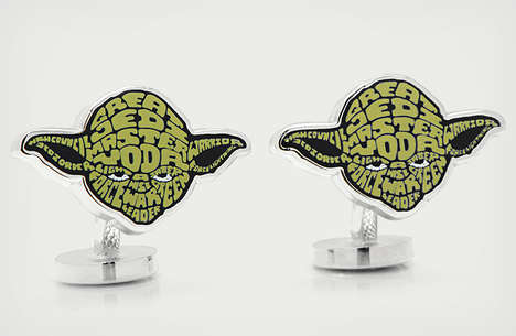 STAR WARS TYPOGRAPHY CUFFLINKS