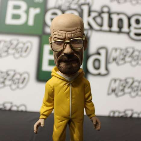 Drug Dealing Bobbleheads - This Walter White Breaking Bad Bobblehead Will Stare You Down