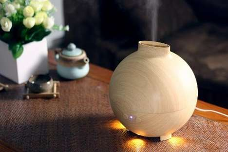 Organically Designed Humidifiers - The LED Ultrasonic Air Diffuser from 'MIU COLOR' Looks Natural