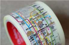 Mapped Public Transit Tape - This New York Subway System Tape Will Help You Find Your Way
