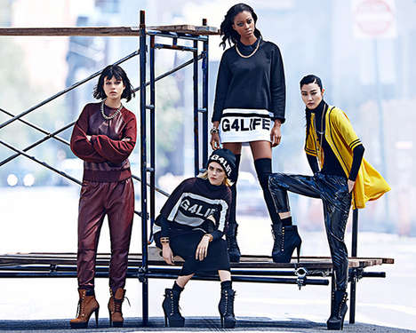 Songstress Collection Campaigns - Rihanna for River Island Autumn/Winter 2013 Ads Are Street-Chic