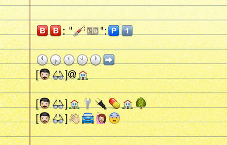 Emoticon-Based TV Recaps - This Breaking Bad Summary Takes Emotional Creative Liberties