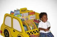 Kid-Sized Cab Bookshelves - The Taxi Book Storage is a Fun and Practical Shelf for Kids