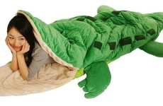 Chomping Crocodile Cozies - Get Cozy in the Bowels of the Vicious Alligator Sleeping Bag