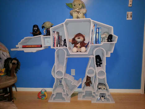 Dark Side Storage Shelves - The At-At Imperial Bookcase is Perfect for Holding Star Wars Novels