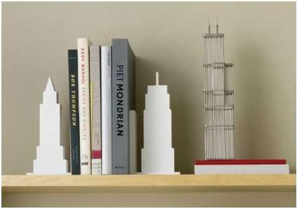 Silhouetted City Bookends
