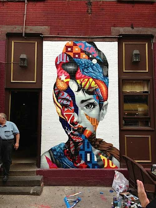 Collaged Pop-Culture Street Art