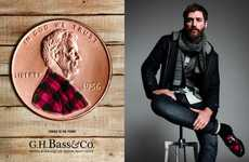 Hipster President Shoe Campaigns - 'G.H. Bass&Co' Uses a Dressed Lincoln to Represent Penny Loafers