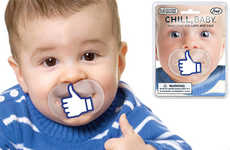 Social Media Soothers - Facebook-Addicted Parents Will Like These Facebook-Themed Baby Soothers