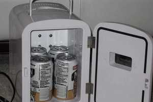 This Tiny Mini Fridge is Just the Size for Six Beer Cans
