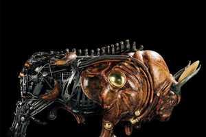 Pierre Matter's Sculptures Combine Metal with Organic Content