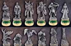 Tolkein Trilogy Board Games - These Lord of the Rings Collectors Chess Sets Depict Movie Magic