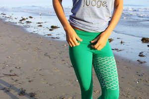 These Yoga Wear Leggings are Designed to Look Like a Mermaid Tail