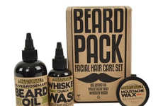 Facial Hair Grooming Kits - The Beard Pack Contains Essential Haircare Products for Beards & Staches