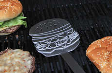 Humorous Hamburger Spatulas - The Burger Flipper is Ideal for Hamburger-Loving Fanatics
