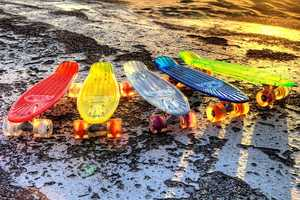 These Designs from Sunset Skateboards are Fun and Flashy