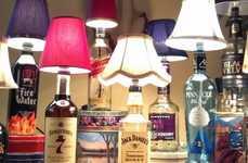 Alcohol Bottle Lamps