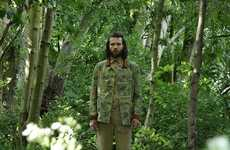 Completely Camouflaged Look Books - The Gloverall SS14 Collection is Full of Military-Inspired Style