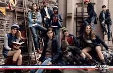 Casual College Fashion Ads - The Tommy Hilfiger Denim Fall Campaign is Playfully Preppy